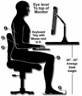 Tips para estar sentado en la oficina